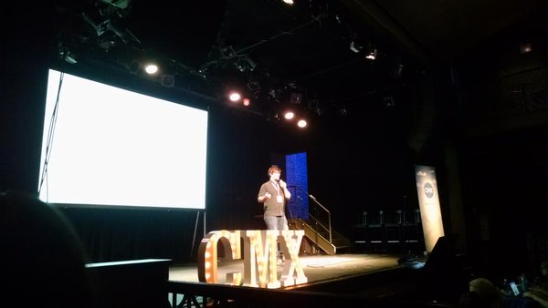 Evan Hamilton speaking at CMX East 2015